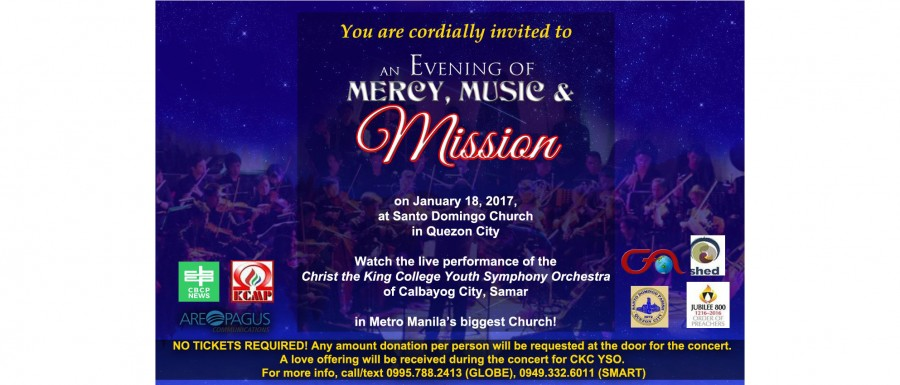 An Evening of Mercy, Music & Mission