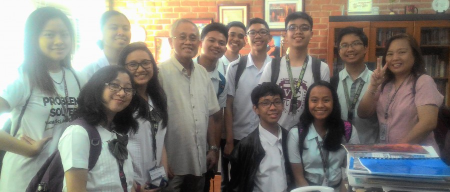 CFA mentors Valenzuela City Mathematics and Science High School students